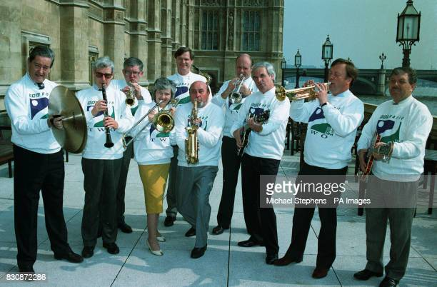 Conservative and Labour party MPs join together to form the Parliamentary Jazz Group outside the House of Commons They will make their debut for...