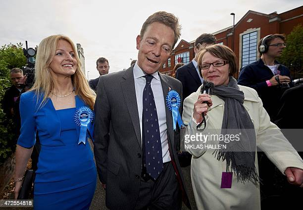 Conservative candidate Craig Mackinlay speaks to the press after being declared the winner of the Thanet south seat after the announcement of the...