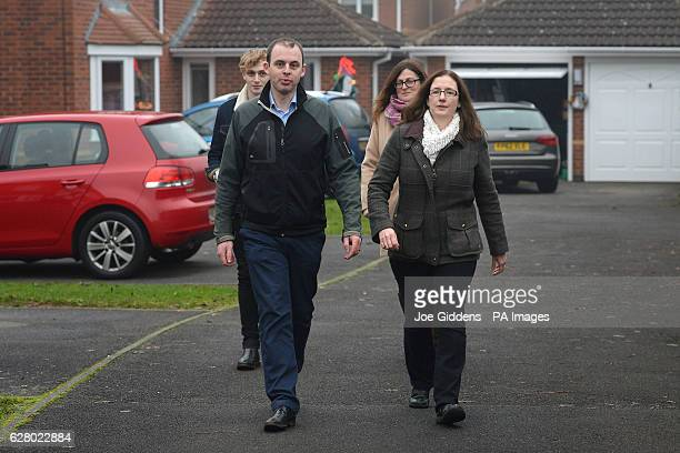 Conservative candidate Dr Caroline Johnson in Quarrington Lincolnshire whilst campaigning for the Sleaford and North Hykeham byelection with...