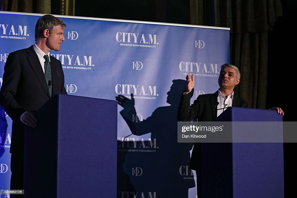 Zac Goldsmith Goes Head To Head With Sadiq Khan In First Mayoral Debate