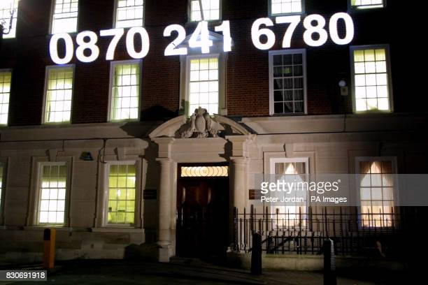 Conservative Central Office in London was lit up advertising that voters calling 0870 241 6780 can hear a short broadcast in the format of a radio...