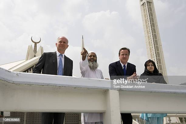Conservative Leader David Cameron now British Prime Minister with Baroness Sayeeda Warsi now Chairman of the Conservative Party and William Hague now...