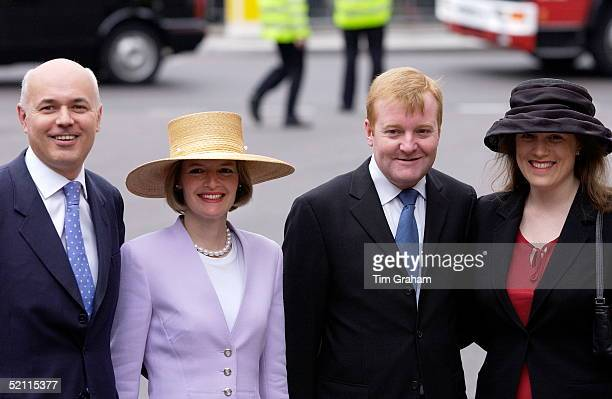 Conservative Leader Ian Duncan Smith With His Wife Betsy And Liberal Democrat Leader Charles Kennedy With His Wife Sarah At Westminster Abbey For The...