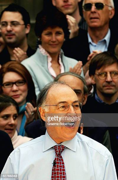 Conservative Leader Michael Howard addresses the media following his party?s general election defeat, May 6, 2005 at the University of Roehampton,...
