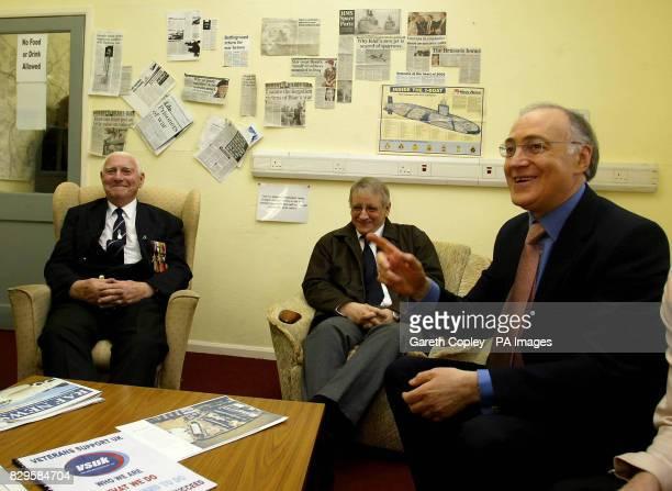 Conservative leader Michael Howard meets veterans at Chatham dockyard