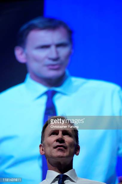 Conservative leadership candidate and Secretary of State for Foreign Affairs Jeremy Hunt attends the first hustings on June 22 2019 in Birmingham...