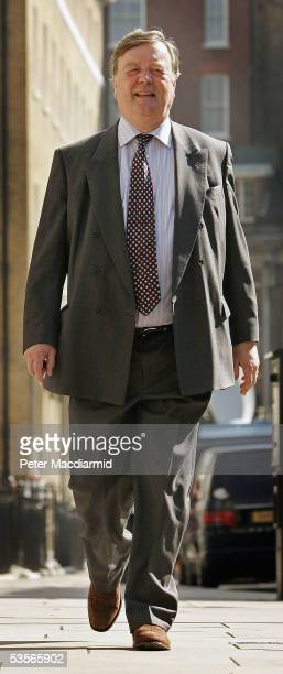 Conservative leadership candidate Ken Clarke walks to a meeting with supporters in Westminster on August 31, 2005 in London. Mr Clarke, a former...