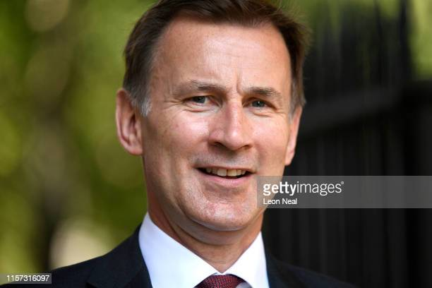 Conservative leadership contender and Secretary of State for Foreign and Commonwealth Affairs, Jeremy Hunt, arrives for a Cabinet meeting at Downing...
