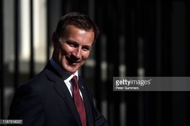 Conservative leadership contender and Secretary of State for Foreign and Commonwealth Affairs Jeremy Hunt arrives for a Cabinet meeting at Downing...