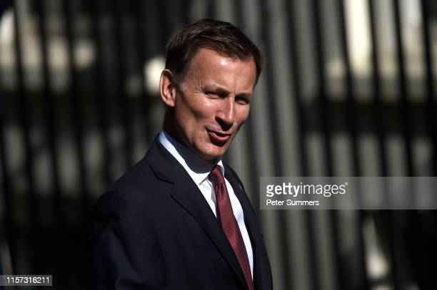 Conservative leadership contender and Secretary of State for Foreign and Commonwealth Affairs, Jeremy Hunt arrives for a Cabinet meeting at Downing...