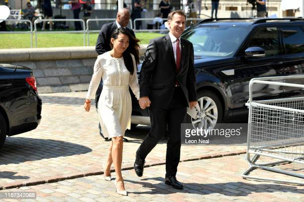 Conservative leadership contender and Secretary of State for Foreign and Commonwealth Affairs, Jeremy Hunt and his wife Lucia Hunt arrive at QEII...