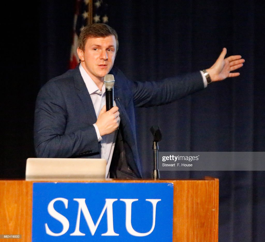 Controversial Conservative Advocate James O'Keefe Speaks On Campus Of Southern Methodist University : News Photo