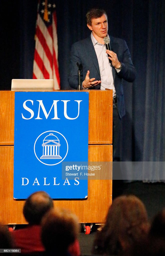 Conservative media activist James O'Keefe speaks at an event hosted by the Southern Methodist University chapter of Young Americans for Freedom, a campus organization started by William F. Buckley in 1960, at the Hughes-Trigg Student Center on November 29, 2017 on the SMU campus in Dallas, Texas. O'Keefe is head of Project Veritas, a right-wing media activist group that found itself in the news this week after a woman was seen entering the offices of the organization after trying to convince Washington Post reporters that she had been sexually assaulted by U.S. Senate candidate Roy Moore of Alabama when she was 15 years old and then driven by Moore to Mississippi for an abortion.