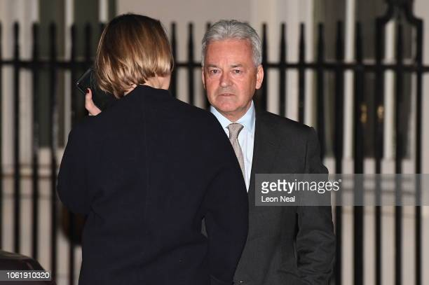 Conservative MP Alan Duncan speaks to BBC's Laura Kuenssberg at Number 10 Downing Street on November 15 2018 in London England Cabinet Ministers...