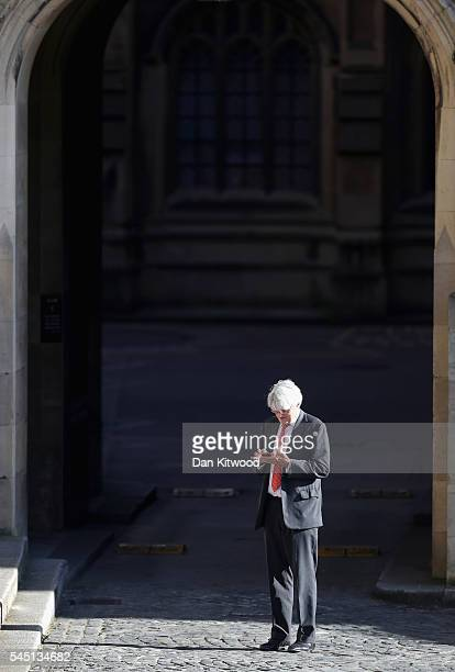 Conservative MP Andrew Mitchell is pictured as votes are counted for the first round of the Conservative Party Leadership election at Houses of...