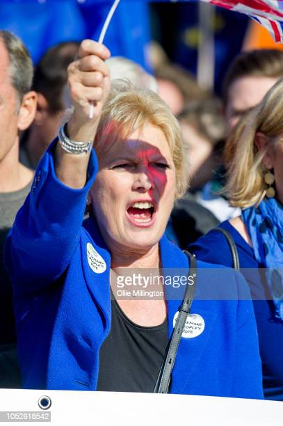 Conservative MP Anna Soubry seen during the march to deman a peoples vote on Brexit on October 20 2018 in London England More than one hundred...