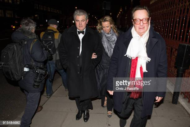 Conservative MP Brandon Lewis arrives for the Conservative party Black and White Ball at Natural History Museum on February 7 2018 in London England...