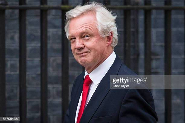 Conservative MP David Davis arrives at Downing Street on July 13 2016 in London England The UK's New Prime Minister Theresa May began appointing the...