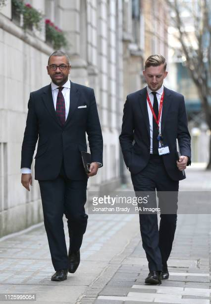 Conservative MP for Braintree and Deputy Chairman of the Conservative Party James Cleverly walks along Abingdon Street near the Houses of Parliament...