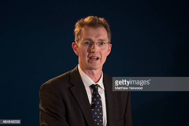 Conservative MP for Monmouth David Davies speaks during day one of the Welsh Conservative Party Conference at the SWALEC Stadium on February 27 2015...