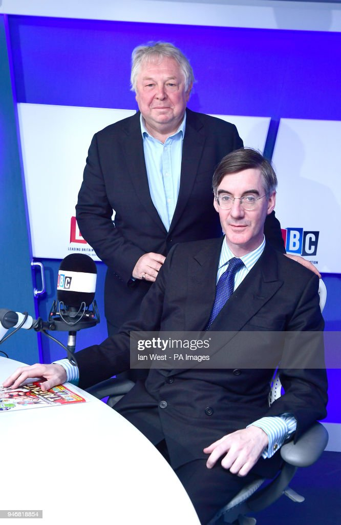 Conservative MP Jacob Rees-Mogg during his LBC radio phone