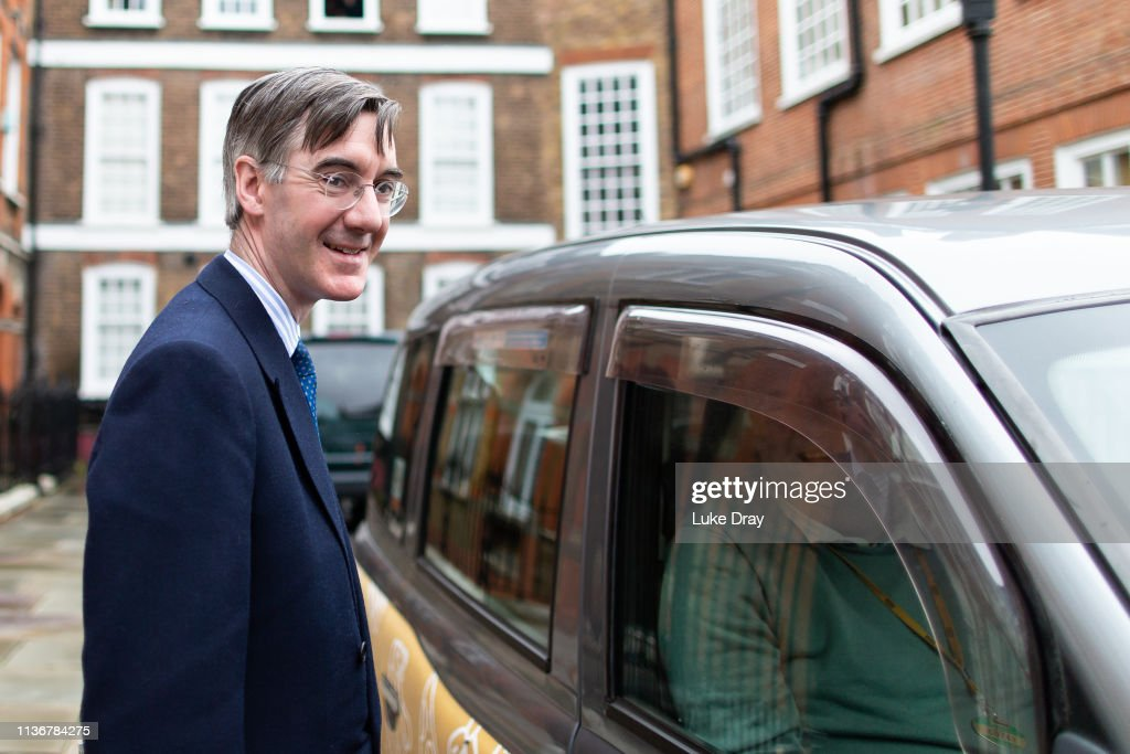 GBR: Conservative Pro-Brexit MP Jacob Rees-Mogg leaves his home
