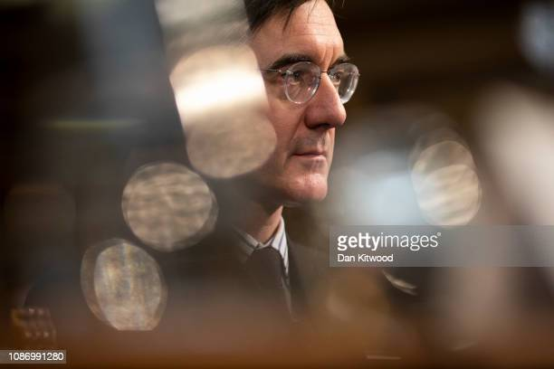 Conservative MP Jacob ReesMogg speaks at proBrexit event by the Bruge Group on January 23 2019 in London England There are reports that MPs are...