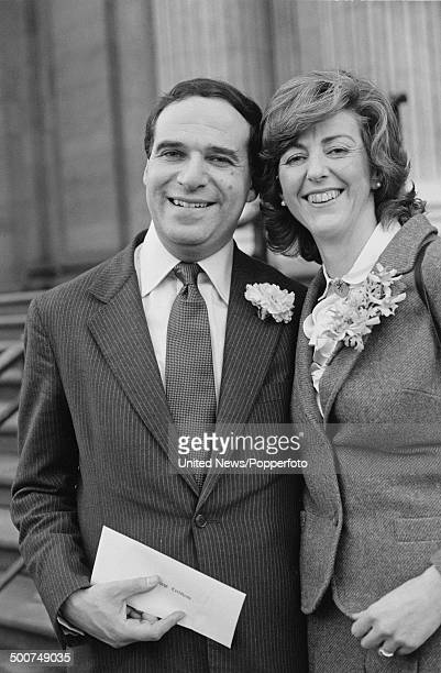 Conservative MP Leon Brittan with his wife Diana Clemetson at their wedding 22nd December 1980