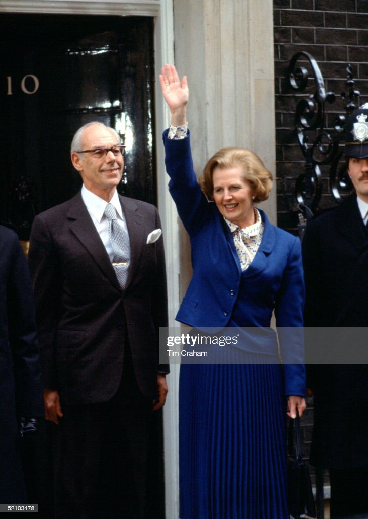 Margaret And Denis Thatcher Downing Street : News Photo