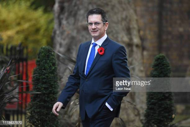 Conservative MP Steve Baker arrives at Downing Street on October 28, 2019 in London, England. EU leaders have announced that an agreement to extend...