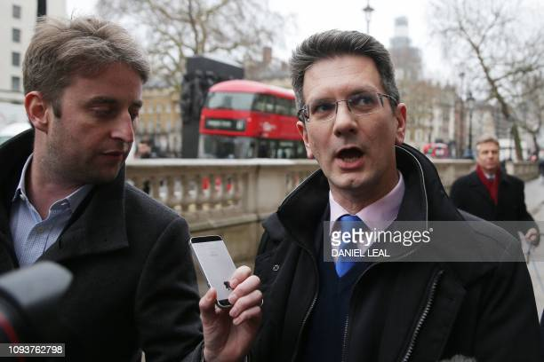 Conservative MP Steve Baker arrives at the Cabinet Office on Whitehall in central London on February 4 2019 Britain's Prime Minister Theresa May is...