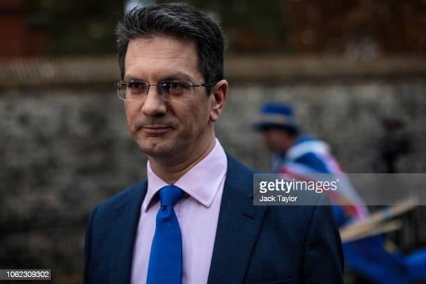 Conservative MP Steve Baker gives an interview on College Green on November 16 2018 in London England The Prime Minister is facing the growing...