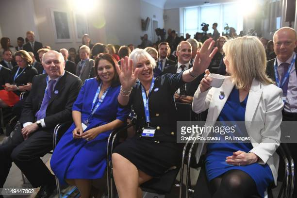 Conservative MPs Iain Duncan Smith Priti Patel Nadine Dorries and Chief Secretary to the Treasury Liz Truss attend the launch of Boris Johnson's...