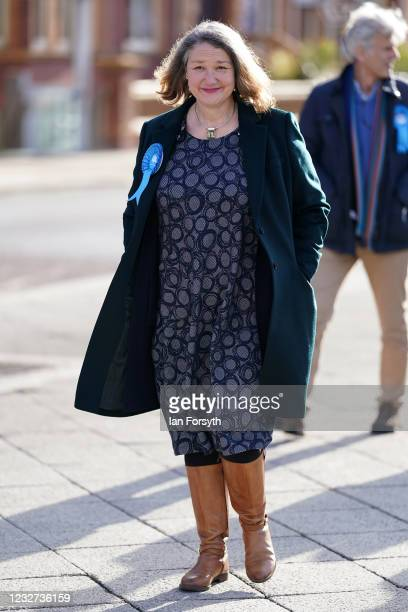 Conservative Party candidate for Hartlepool Jill Mortimer arrives for a press conference after being declared the winner in the Hartlepool...