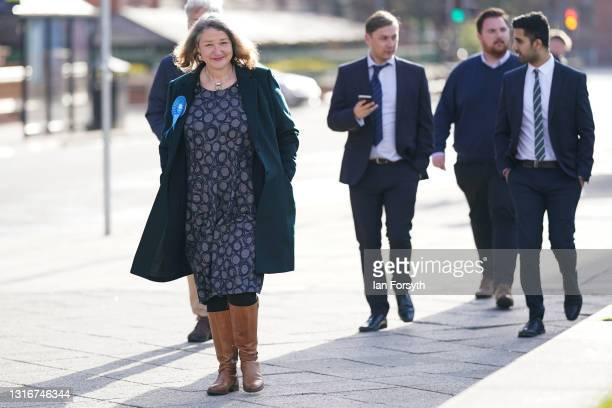 Conservative Party candidate for Hartlepool Jill Mortimer is declared the winner of the Hartlepool Parliamentary By-election Count on May 07, 2021 in...