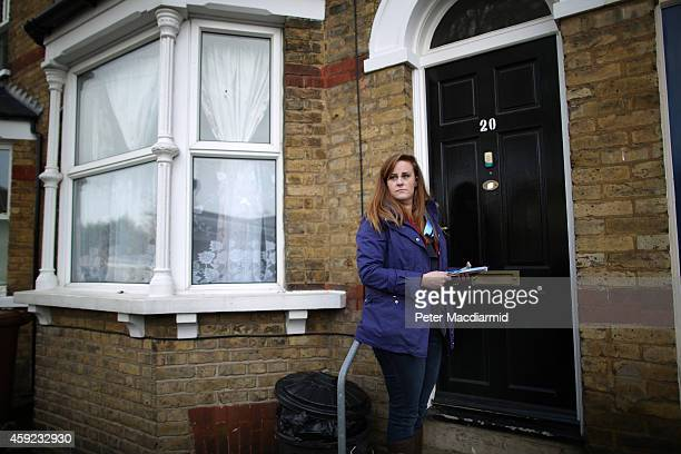 Conservative party candidate Kelly Tolhurst campaigns on November 19 2014 in Rochester England A parliamentary byelection will be held in the...