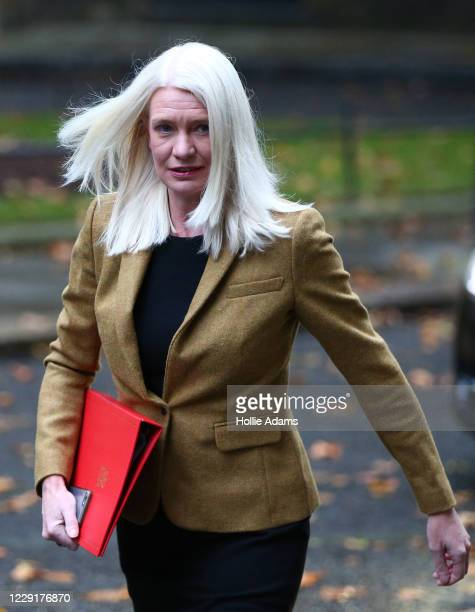 Conservative Party Chairman Amanda Milling arrives in Downing Street on October 20 2020 in London England Boris Johnson could impose stringent new...