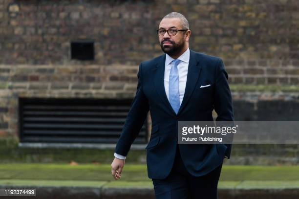 Conservative Party Chairman and Minister without Portfolio James Cleverly arrives in Downing Street in central London to attend a Cabinet meeting on...