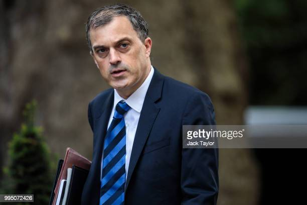 Conservative Party Chief Whip Julian Smith arrives for a cabinet meeting at 10 Downing Street on July 10 2018 in London England Ministers are meeting...