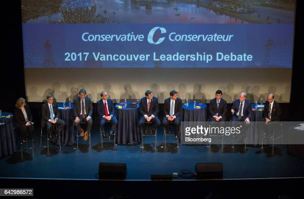 Conservative Party leader candidates from left Lisa Raitt member of parliament Andrew Saxton former member of parliament Chris Alexander former...