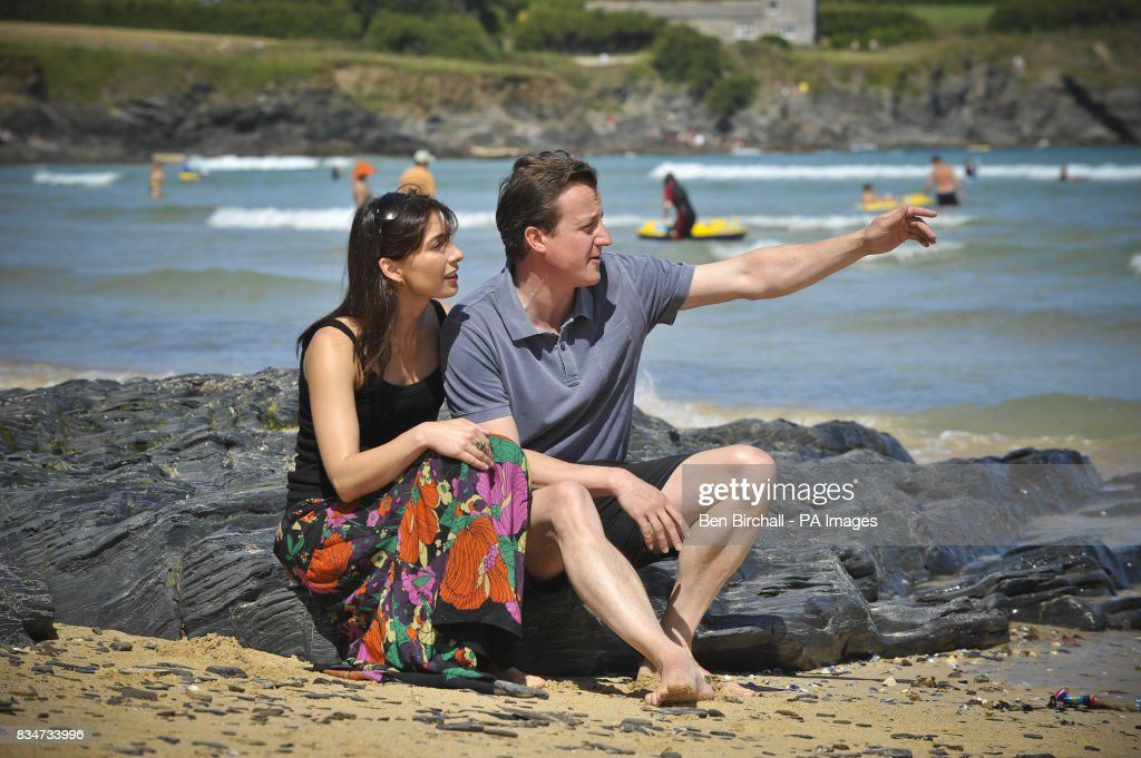 David Cameron Wife Beach