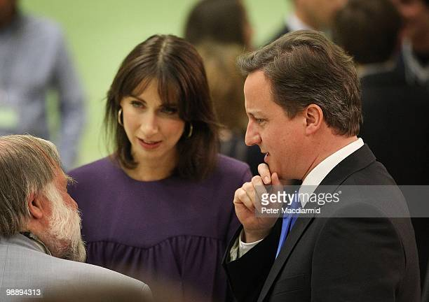 Conservative Party leader David Cameron and his wife Samantha walk around the count in his constituency on May 7, 2010 in Witney, England. After 5...