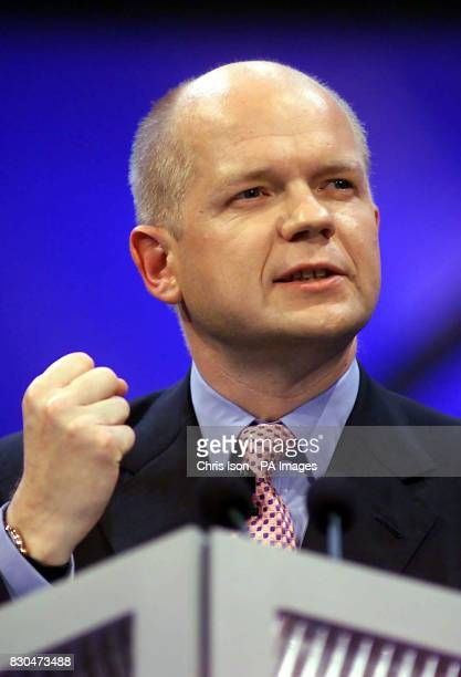 Conservative Party leader William Hague delivers his keynote speech on the fourth day of the Conservative Party Conference in Bournemouth *...