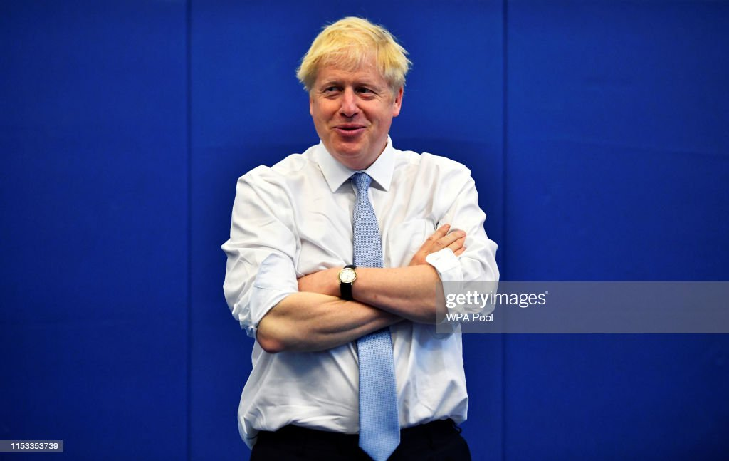 Boris Johnson Campaigns For The Conservative Leadership In Reading : News Photo