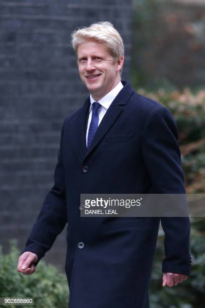 Conservative party MP Jo Johnson leaves 10 Downing street in central London after the first cabinet meeting of the new year following a reshuffle on...
