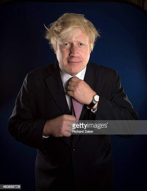 Conservative party politican Boris Johnson is photographed for the Observer on September 16 2014 in London England