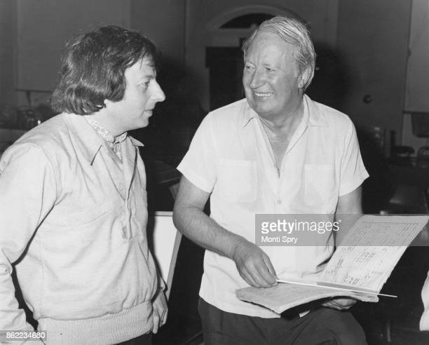 Conservative Party politician Edward Heath with musician and conductor André Previn during rehearsals for two concerts which are to be performed in...
