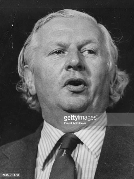 Conservative Party politician Jim Prior the Opposition Employment Secretary speaking at the Tory Party Conference in Brighton October 6th 1976
