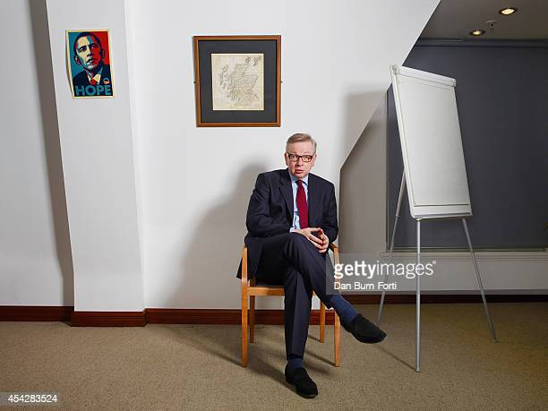 Conservative party politician Michael Gove is photographed for the FT Weekend magazine on February 12 2014 in London England