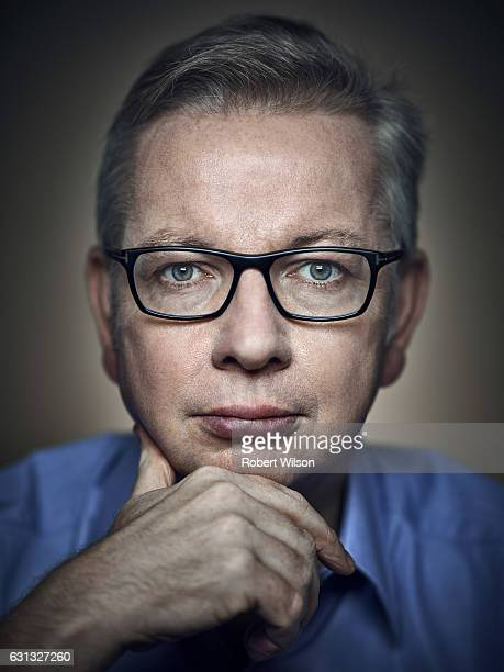 Conservative party politician Michael Gove is photographed for the Times on September 20 2016 in London England